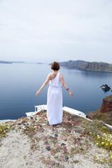 Bride in Santorini. Followmeto photo