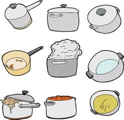 Series of Kitchen Pots