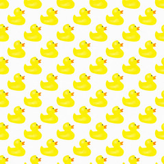 Yellow Ducks Pattern Repeat Background