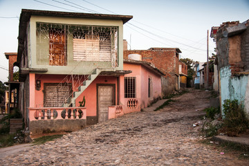 Typical colonial houses of townTrinidad, Cuba