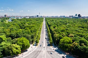 Tiergarten and Berlin citry center ponarama view