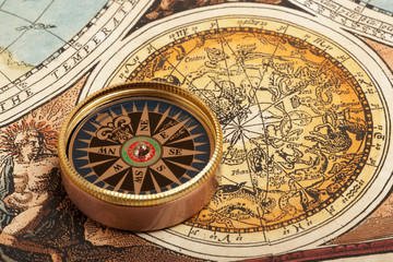 Wall Mural - Old compass