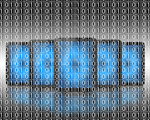 background of binary code