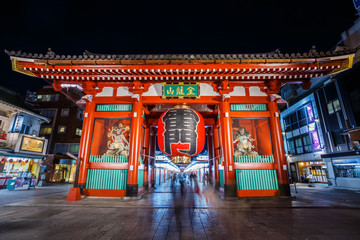 Kaminarimon Gate at Sensoji Temple in Tokyo