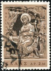 Virgin (wood carving Church of St. Nicholas, Galaxeidon)