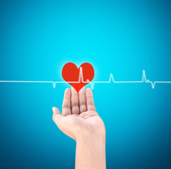 Medicine doctor working pushing heart