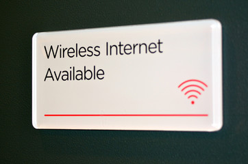 Wireless internet sign and symbol