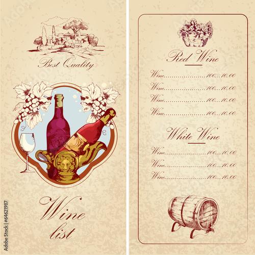 Wine list template\