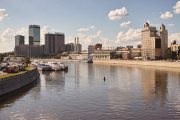 Embankment of the Moscow river. World Trade Center.