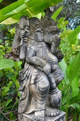 Statue de Ganesh dans un jardin de Bali