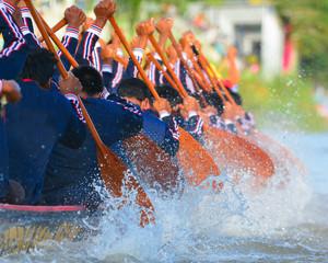 Wall Mural - rowing team race