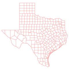 Wall Mural - Texas Map