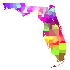Wall Mural - Florida Map