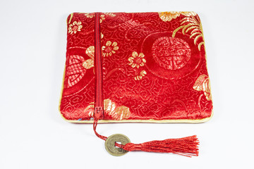 Chinese red purse.