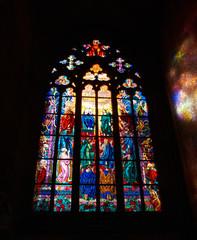 stained glass in cathedral