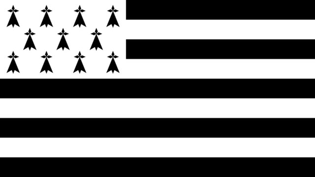 Flag of Brittany - Vector Graphic