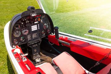 Microlight Plane Cockpit