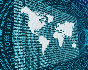 The Earth and binary code