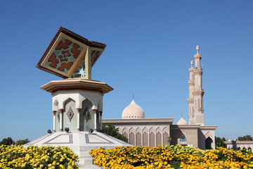 Quran roundabout in Sharjah, United Arab Emirates