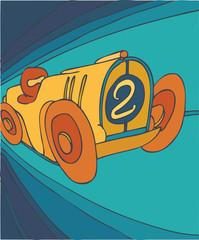 retro car, motor car, vector illustration