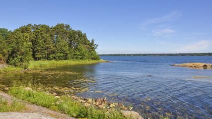 Västervik, Schären, Küste, Wald, Sommer, Schweden