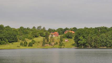 Västervik, Schären, Seeufer, Dorf, Sommer, Schweden