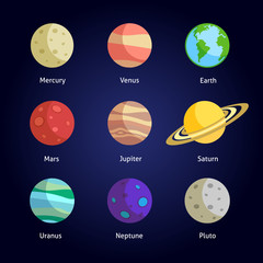Planets decorative set
