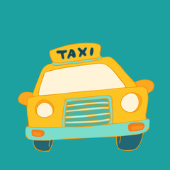Taxi cab sign, cause a car, vector illustration