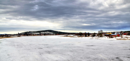 Winter panorama for Overkalix