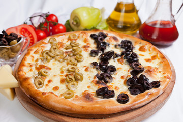 Wall Mural - Olive focaccia pizza