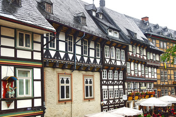 Fototapete - Old Fachwerk house in Goslar.