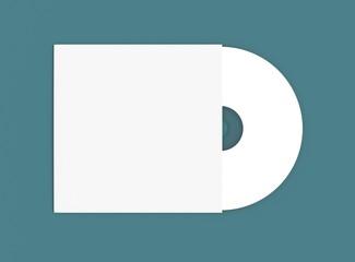 Compact Disc mit Hülle auf blauem Hintergrund