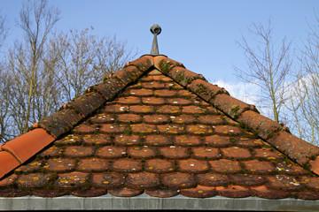 Dach des alten Dorfbrunnens in Alverdissen