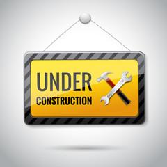 Under construction emblem icon
