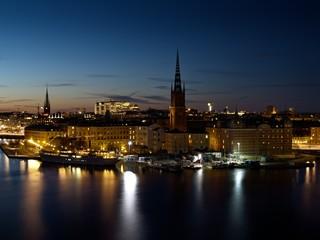Gamla stan by night, Stockholm Sweden.