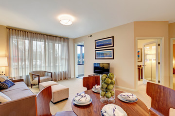 Modern apartment interior. Living room