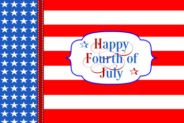 Happy Fourth of July Stars and Strpies Wallpaper