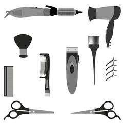 Hairdressing supplies Vector Illustracion