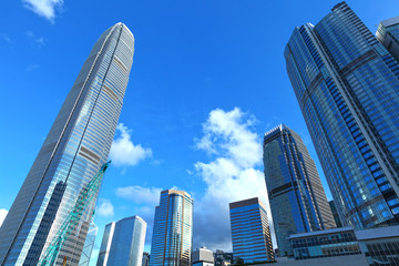 Central business district in Hong Kong