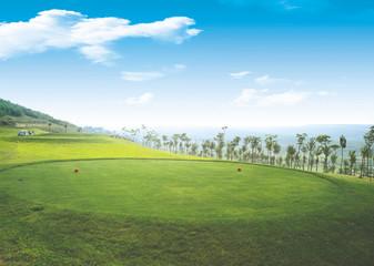 골프장 풍경 Fotobehang