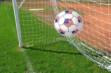 usa goal - mudial 2014 - grass nets - World Cup
