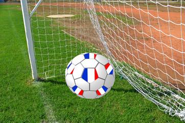 france - world cup - football ball - goals nets