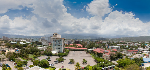 High angle view of a city, Jamaica
