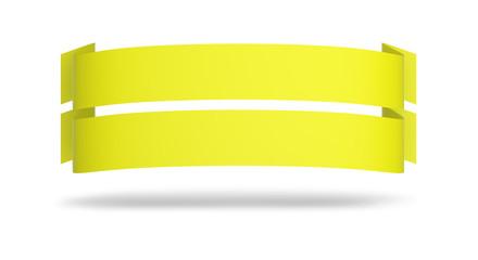 Doppel Werbeplakat Gelb