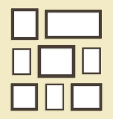 Eight picture frames