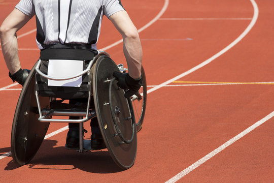 wheelchair athlete stadium