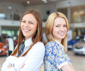 Two happy business women