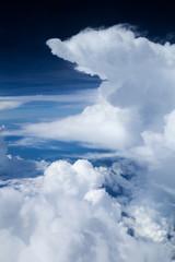 Beautiful white clouds from the illuminator