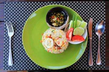 Thai food, seafood fried rice