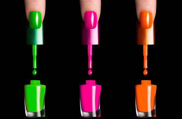 Colorful Fluor Nail Polish